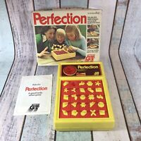 Perfection Game Shapes Race Against Time Vintage 1980s Action GT 1 Piece Missing