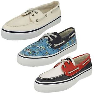 MENS SPERRY BAHAMA 2-EYE HAWAII BLUE LACE UP CASUAL CANVAS DECK SHOES