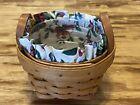 Thyme Booking Basket w/ Protector & Garden Splendor Liner 1995 Longaberger