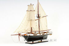 "Harvey Baltimore Clipper Tall Ship 35"" Built Wooden Model Boat Painted Assembled"