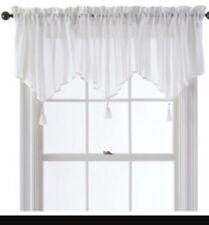 "Queen Street New York Farmignton Sheer Ascot Window Valance 40x21"" Curtain Panel"