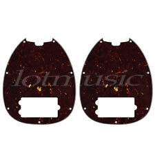 Bass Pickguard for Musicman Music Man MM2 4 String Guitar Parts Dark Brown 2pcs