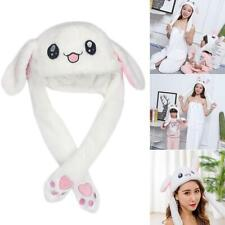 efea229acf0 Funny Rabbit Bunny Ear Moving Hat Airbag Cap Soft Plush Cute Hats Toys Gift  AU