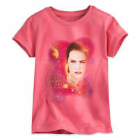 Disney Store Girls Star Wars Pink Rey Force Awakens T Shirt Tee Size 4 5/6 7/8