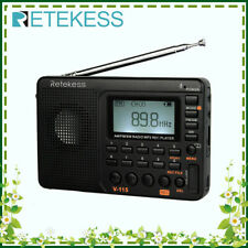 V115 Portable FM/AM/SW Radio World Band Rechargeable MP3 Player Recorder Gift