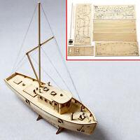 1:30 Kit de construction de modèle assemblé de bateau de pêche en bois