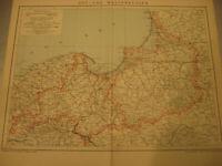 Antike Landkarte von 1900: Ost und Westpreussen mit Provinzen-Antique map