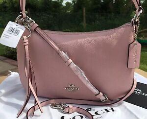 COACH 'SUTTON' Crossbody Bag  Pink Blossom / Silver RRP £225