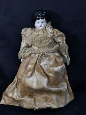 """15"""" Long China Doll lady with Home Made Dress Lace Under Garment"""