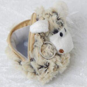 Plüschschaf, Plüschtier Geldtasche 10 x 9 cm, Schaf