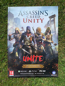 Assassins Creed Unity Pre Release Poster (Rare Item, Double Sided, Size A2)