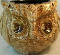 Vintage Owl Royal Haeger Planter, Sand Glazed Ceramic Pottery, Farmhouse Boho