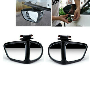 2 pcs Blind Spot Mirror 360° Wide Angle Convex Rear Side View For Car Truck SUV