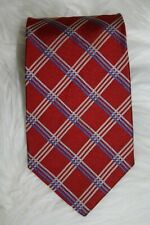 Brooks Brothers Maker Men Red Blue Diamond 100% Silk Necktie Tie Sz 58L x 3.75W