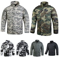 Mens Military Field Combat M65 Jacket Outdoor Hunting Winter Camo Coat Jacket