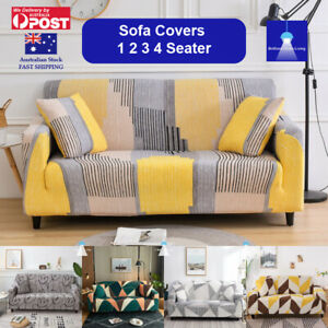 Sofa Cover 1 2 3 4 Seater Stretch Couch Covers Lounge Slipcover Protector AU