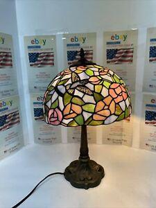 """18""""""""Hummingbird TIFFANY STYLE LAMP"""