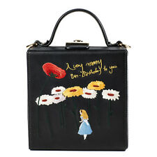 "Authentic ""High Cheeks"" Alice in Wonderland Embroidered Leather Trunk bag"