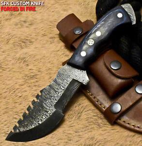 SFK Handmade Damascus Steel Hard Wood Hunting Tracker Knife