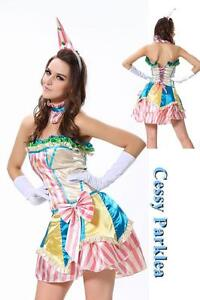 Candylicious Clown Costume Circus Carnival Fancy Dress Birthday Party Outfit