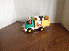 Vintage 1979 Fischer Price #330 Husky Helper Rodeo Truck with cowboy and horse