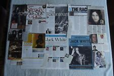 JACK WHITE - RACONTEURS - MAGAZINE CUTTINGS COLLECTION - CLIPPINGS, PHOTOS X25.