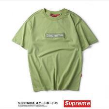 SUPREME BOX LOGO Classic Pure Color Cotton T-shirt Pocket Shirt S-XXL Fast Ship