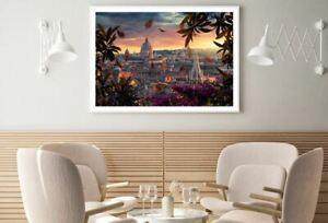 City Sunset Scenery Photograph Print Premium Poster High Quality choose sizes