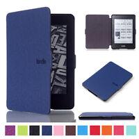 Luxury Leather Flip Magnetic Smart Sleep Case For Amazon Kindle Paperwhite 1 2 3