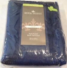JC Penney Royal Velvet 50x96 Indigo NAVY Blue drape  curtain Rod Pocket/Back Tab