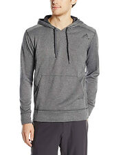 ADIDAS PERFORMANCE MENS ULTIMATE PULLOVER HOODIE DARK GREY SIZE XL NEW