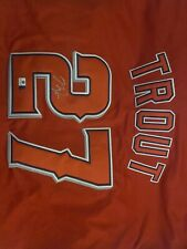 MIKE TROUT Signed Autograph Angels Majestic Authentic New Jersey Global Hologram