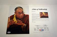 His Holiness The Dalai Lama Signed Autograph Photo PSA/DNA COA #1