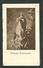 Old stamp virgen de la purisima concepcion andachtsbild snatino holy card