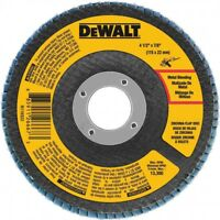 "DEWALT DWA8207 4-1/2"" x 7/8"" 60 Grit Zirconia T29 Flap Disc"