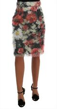 NEW $1200 DOLCE & GABBANA Skirt Floral Pencil Straight Patterned IT38 / US4 / XS