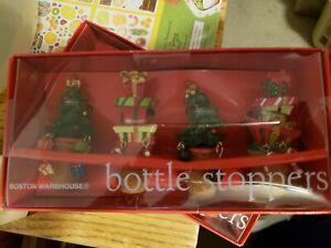 Boston Warehouse Christmas Cork Wine Bottle Stoppers