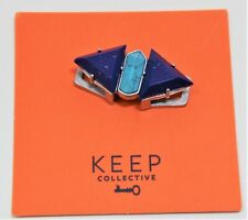 Keep Collective Charm Turning Point Stones Blue Turquoise Lapis Silver ~Retired~