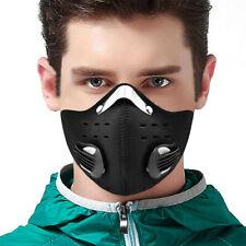 Открытый половина лицо Shield Activated угольный фильтр рот-муфель пылезащитный черный