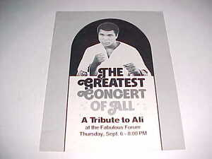 Muhammad Ali 1979 The Greatest Concert Of All A Tribute Jerry H. Buss Program