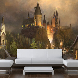 """Wizards castle - Removable Wall Mural, Decal, harry vinyl 121"""" wide x 94"""" tall"""