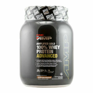 GNC AMP Gold Series 100% Whey Protein Advanced 32.8 oz (2.05LB) Double Rich Choc