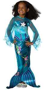 Popular Blue Magical Mermaid Ariel Disney Princess Girl Costume Rubies Polyester
