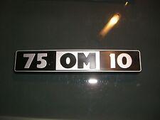 Emblem / Badge OM Iveco 75 OM 10 ca. 17x3 cm, 3 Befestigungsstifte
