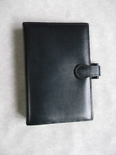 BROMPTON REAL LEATHER NAVY STANDARD PERSONAL FILE ORGANISER NEW 25mm DIAMETER