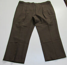 NEW w/o Tags Men's Haband's Fit Forever Flannel Lined Brown Pants 46x28 : 2395
