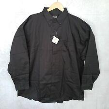 Edwards Service Mates Men's 2XL Black DuPont Teflon Long Sleeve Work Shirt XXL