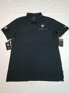 Nike Men's New Orleans Saints Performance Polo Shirt Black AO3889-010 Sz Large