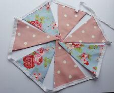 Rosali Blue and Pink Polka Dot Handmade Bunting Garland Double Sided