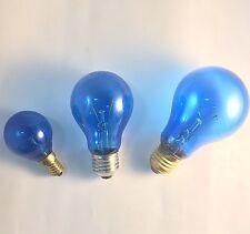 LAMPADA SOLARE AZZURRO RIPOSANTE E14 O E27 DA 25 40 W E 100 WATT LAMPADINA BLU
